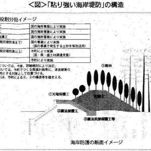緑の防潮堤(新型防潮堤)が静岡県で着工されます!
