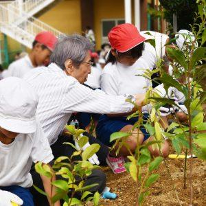 大阪府阪南市立尾崎小学校にて、南海トラフ地震に備える植樹祭を開催!