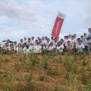 JBグループ植樹祭。企業の社会貢献活動。