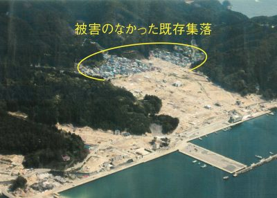 岩手県山田町田の浜(2011年津波被害状況)