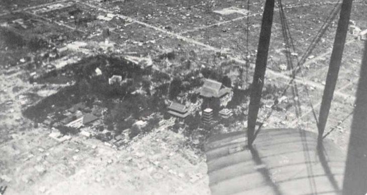 樹木により火災を免れた観音堂と五重の塔/浅草寺及び浅草公園