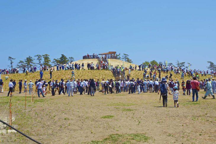 宮城県岩沼市先年希望の丘植樹祭2013